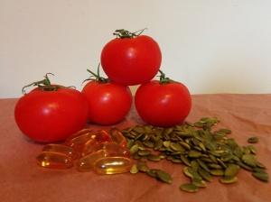 tomato, fish oil, pumpkin seed